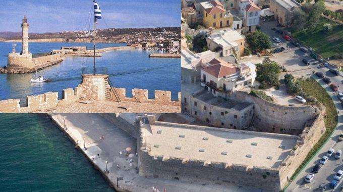 Ο Μίκης Θεοδωράκης στο φρούριο Φιρκά στα Χανιά